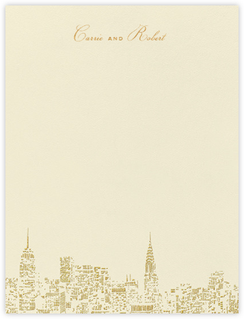 City Lights I (Stationery) - kate spade new york - Personalized stationery