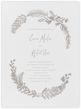Miss Mimi Margeaux I (Invitation) - Taupe - Mr. Boddington's Studio - Wedding Invitations