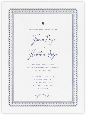 Miss Cricket (Invitation) - Navy | null
