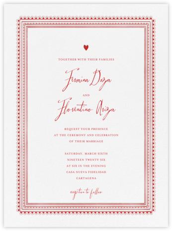 Miss Cricket (Invitation) - Red - Mr. Boddington's Studio -