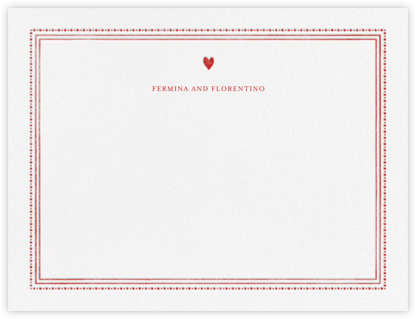 Miss Cricket (Stationery) - Red - Mr. Boddington's Studio - Personalized Stationery