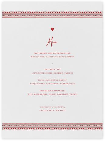 Miss Cricket (Menu) - Red - Mr. Boddington's Studio - Wedding menus and programs - available in paper