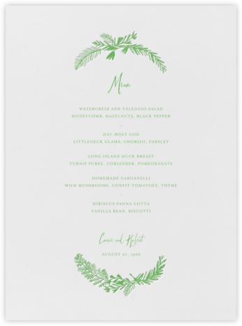 Miss Mimi Margeaux I (Menu) - Spring Green - Mr. Boddington's Studio -
