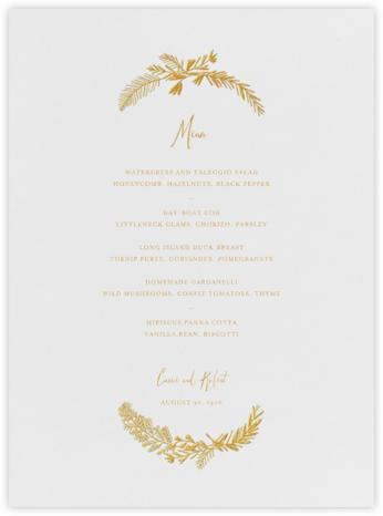 Miss Mimi Margeaux I (Menu) - Gold - Mr. Boddington's Studio -