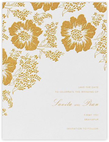 Falling Poppies I (Save the Date) - Oscar de la Renta - Save the dates