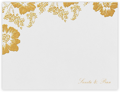 Falling Poppies I (Stationery) - Oscar de la Renta - Personalized Stationery