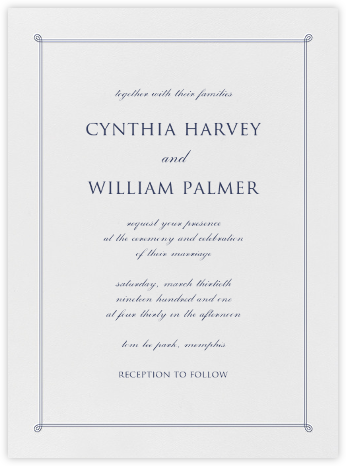 Double Loop Frame I (Invitation) - Navy  - Paperless Post - Classic wedding invitations