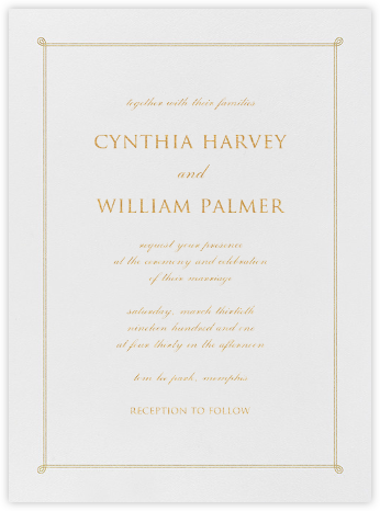 Double Loop Frame I (Invitation) - Gold - Paperless Post - Wedding invitations