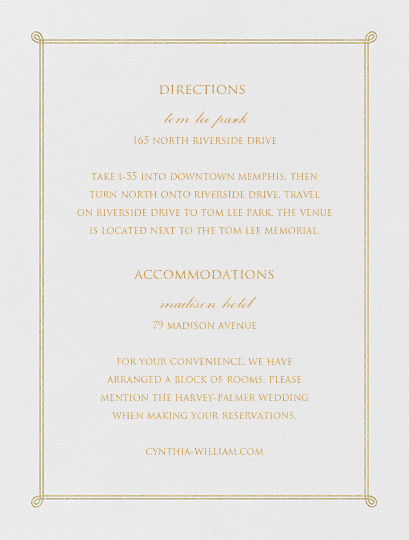 Double Loop Frame I (Invitation) - Gold - Paperless Post - All - insert front