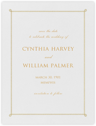 Double Loop Frame I (Save the Date) - Gold