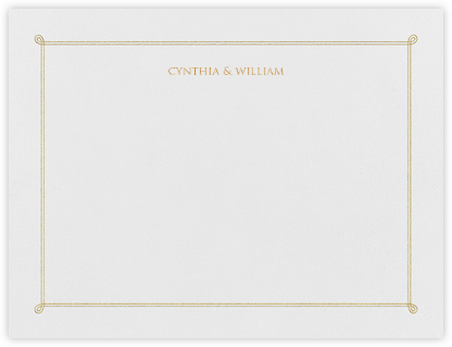 Double Loop Frame I (Stationery) - Gold | horizontal