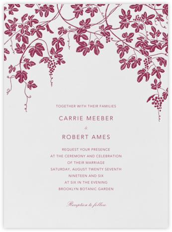 Vineyard I (Invitation) - Burgundy - Paperless Post -