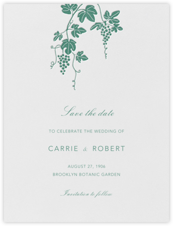 Vineyard I (Save the Date) - Hunter - Paperless Post - Save the dates