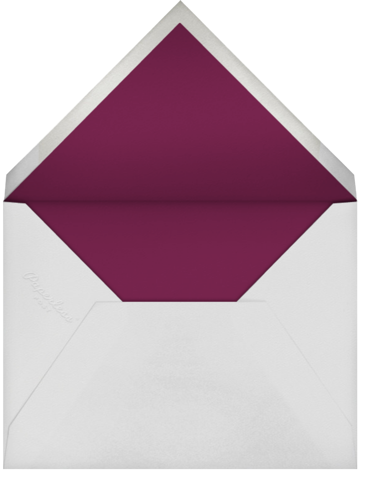 Vineyard I (Save the Date) - Burgundy - Paperless Post - Save the date - envelope back
