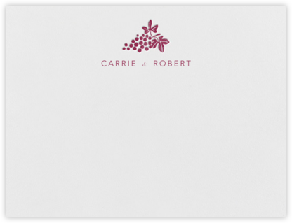 Vineyard I (Stationery) - Burgundy - Paperless Post - Personalized Stationery