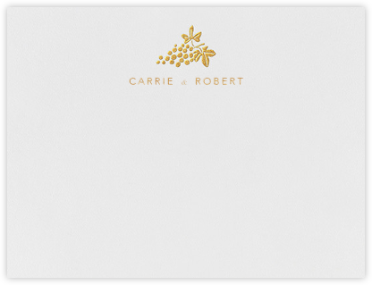 Vineyard I (Stationery) - Gold - Paperless Post - Personalized Stationery