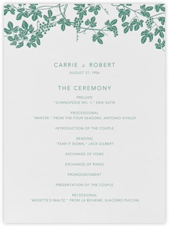 Vineyard I (Program) - Hunter - Paperless Post - Wedding menus and programs - available in paper