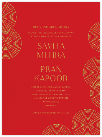 Ghera I (Invitation) - Paperless Post - Indian Wedding Cards