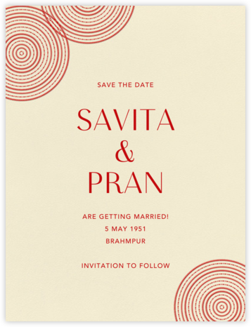 Ghera I (Save the Date) - Paperless Post - Save the dates