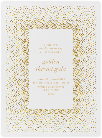 Jubilee I - Medium Gold - Kelly Wearstler - Charity and fundraiser invitations