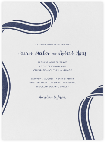 Ellis Hall I (Invitation) - kate spade new york - Classic wedding invitations