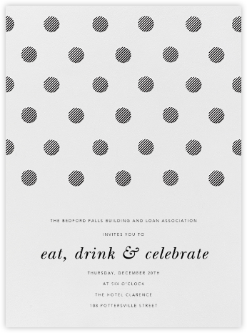 Polka Dot - Black - Oscar de la Renta - Reception invitations