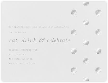 Polka Dot (Horizontal) - Platinum - Oscar de la Renta - Business event invitations