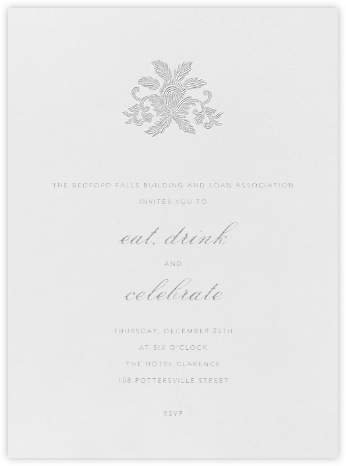 Leaf Lace Il - Platinum - Oscar de la Renta - Business event invitations