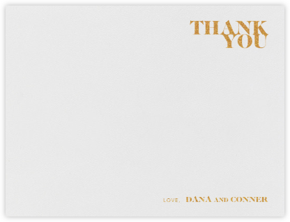 Prelude (Stationery) - Gold - Vera Wang - Wedding thank you cards