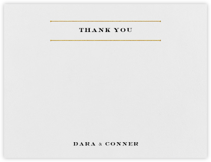 Roman (Stationery) - Gold - Vera Wang - Wedding thank you cards