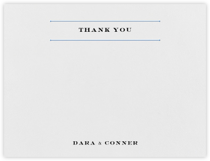 Roman (Stationery) - Newport Blue - Vera Wang - Wedding thank you notes