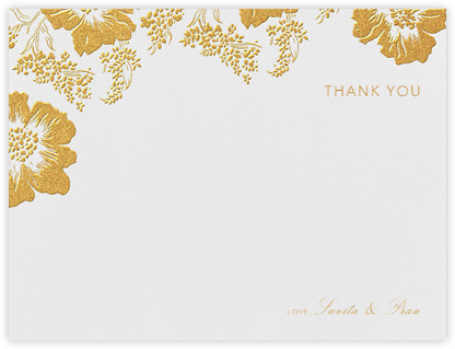 Falling Poppies I (Stationery) - Oscar de la Renta - Wedding thank you cards
