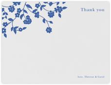 Floral Trellis I (Stationery) - Regent Blue