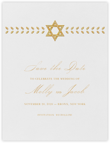 Kayitz I (Save the Date) - Gold - Paperless Post - Save the dates