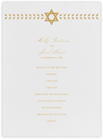 Kayitz I (Program) - Gold - Paperless Post - Wedding menus and programs - available in paper
