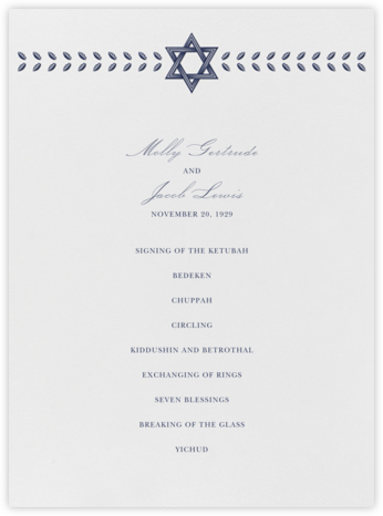 Kayitz I (Program) - Navy - Paperless Post - Wedding menus and programs - available in paper