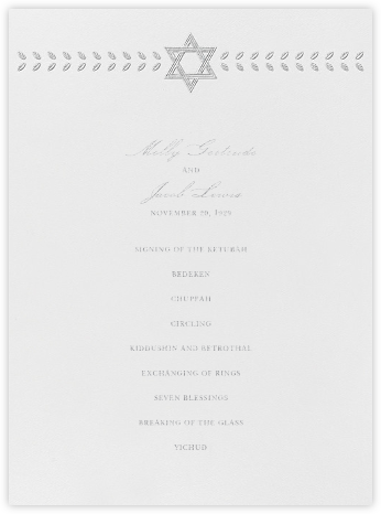 Kayitz I (Program) - Platinum - Paperless Post - Wedding menus and programs - available in paper