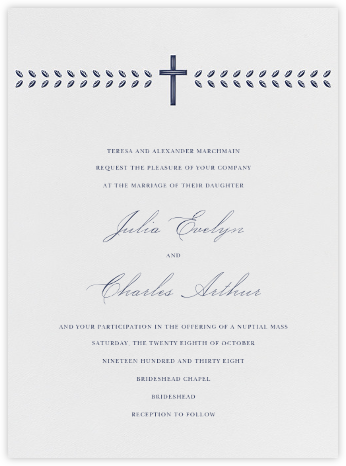 Lamina I (Invitation) - Navy - Paperless Post - Wedding Invitations
