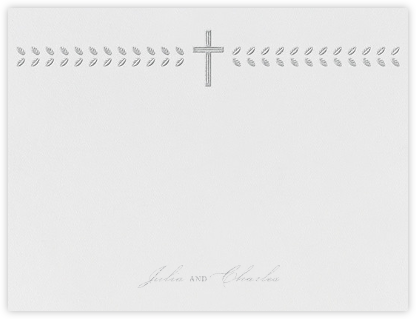 Lamina I (Stationery) - Platinum - Paperless Post - Personalized Stationery