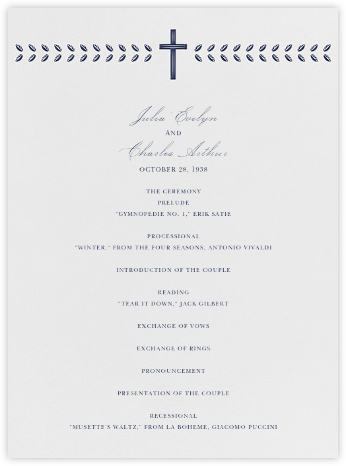 Lamina I (Program) - Navy - Paperless Post - Wedding menus and programs - available in paper