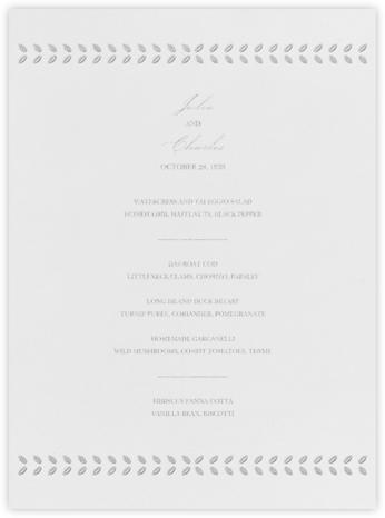 Lamina I (Menu) - Platinum - Paperless Post - Wedding menus and programs - available in paper