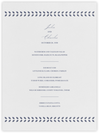 Lamina I (Menu) - Navy - Paperless Post -