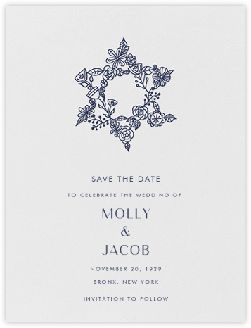 Nitzan I (Save the Date) - Navy - Paperless Post - Save the dates