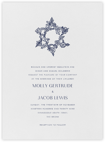 Nitzan I (Invitation) - Navy - Paperless Post - Wedding Invitations