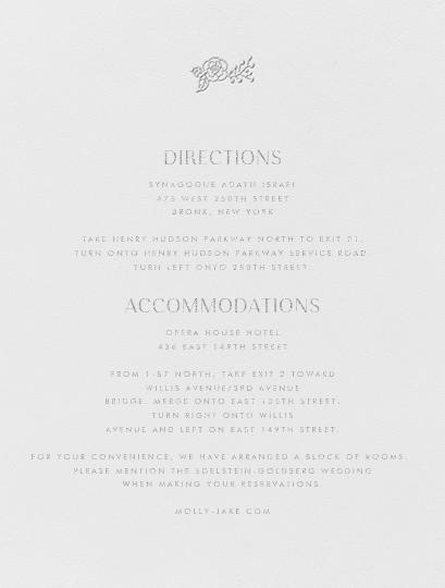 Nitzan I (Invitation) - Platinum - Paperless Post - All - insert front