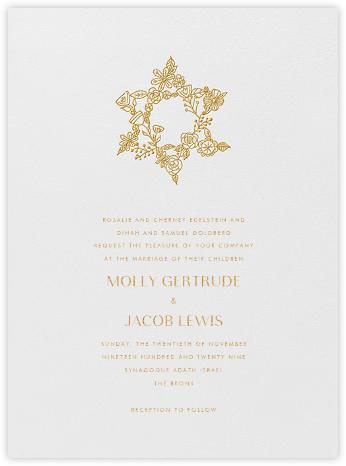 Nitzan I (Invitation) - Gold - Paperless Post - Wedding Invitations