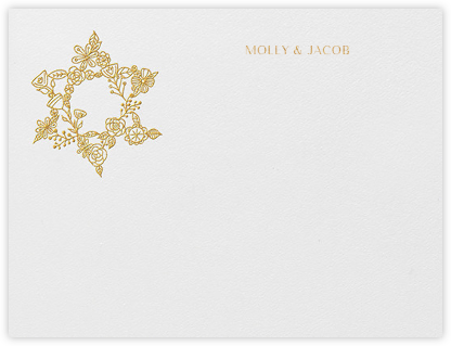 Nitzan I (Stationery) - Gold - Paperless Post - Personalized Stationery