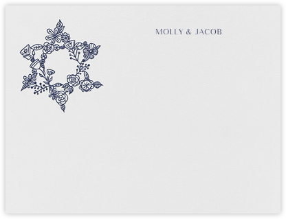 Nitzan I (Stationery) - Navy - Paperless Post - Personalized Stationery