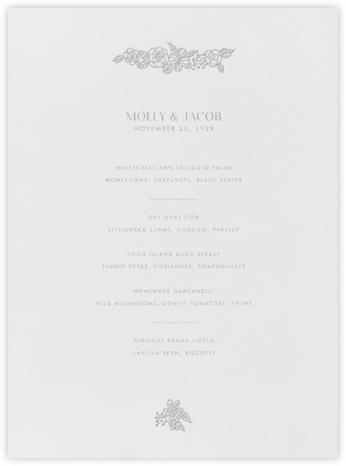 Nitzan I (Menu) - Platinum - Paperless Post - Wedding menus and programs - available in paper