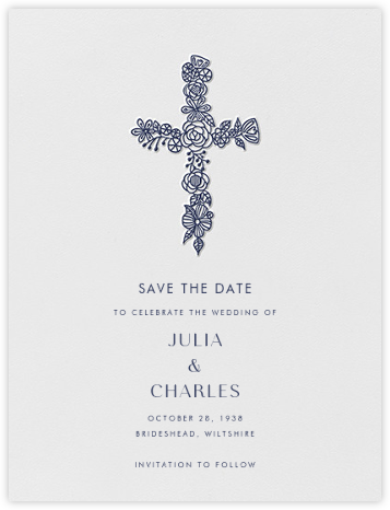 Thérèse I (Save the Date) - Navy - Paperless Post -